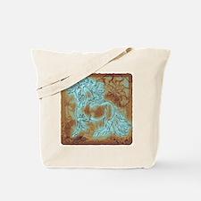 """Abundate"" Tote Bag ~ Turquoise Bronze"
