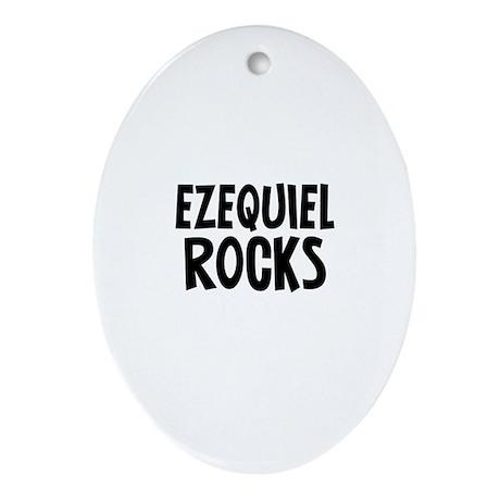Ezequiel Rocks Oval Ornament