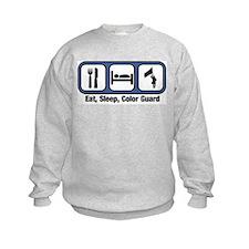 Eat, Sleep, Color Guard Sweatshirt