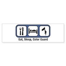 Eat, Sleep, Color Guard Bumper Bumper Sticker