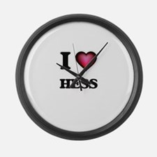 I Love Hess Large Wall Clock
