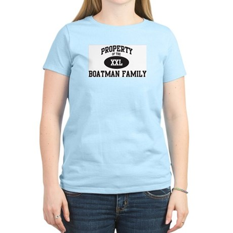 Property of Boatman Family Women's Light T-Shirt