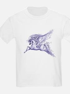 """Pegasus"" Kids T-Shirt ~ Purple"