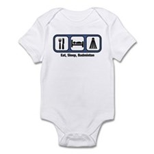Eat, Sleep, Badminton Infant Bodysuit