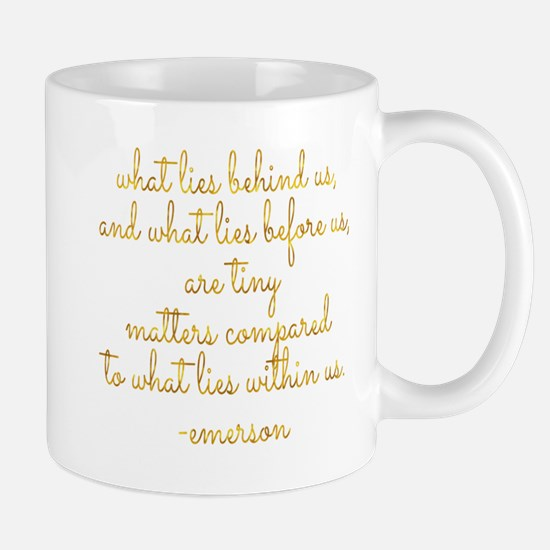 What Lies Within Us Emerson Gold Faux Foil Mo Mugs