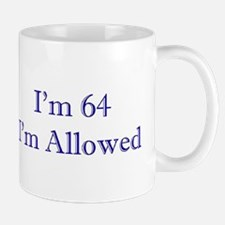 64 I'm Allowed 3 Dk Blue Mugs