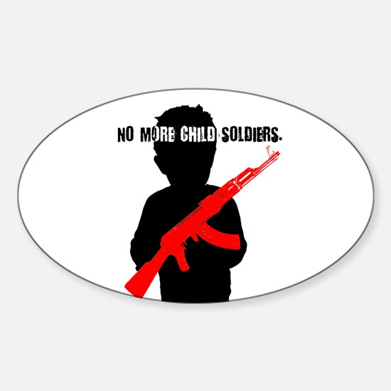 No Child Soldiers Oval Decal