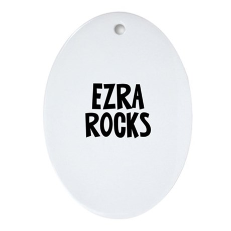 Ezra Rocks Oval Ornament