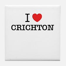 I Love CRICHTON Tile Coaster