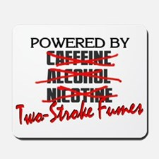 Powered By Two-Stroke Fumes Mousepad