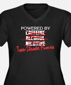 Powered By Two-Stroke Fumes Women's Plus Size V-Ne