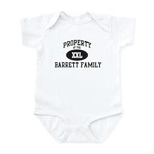 Property of Barrett Family Infant Bodysuit