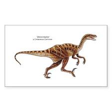 Velociraptor Dinosaur Carnivore Sticker (Rectangul
