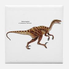 Velociraptor Dinosaur Carnivore Tile Coaster