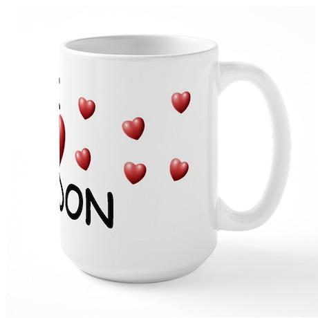 I Love Jordon - Large Mug