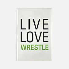 Live Love Wrestle Rectangle Magnet