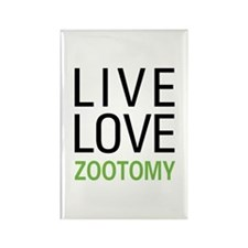 Live Love Zootomy Rectangle Magnet