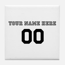 Personalized Baseball Tile Coaster