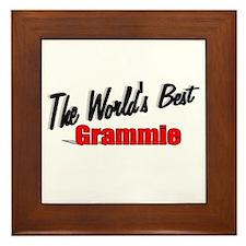 """""""The World's Best Grammie"""" Framed Tile"""