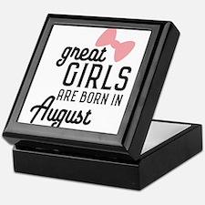 Great Girls are born in August Cz4dd Keepsake Box