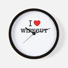 I Love WIPEOUT Wall Clock
