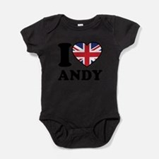 Cute Great britain flag Baby Bodysuit