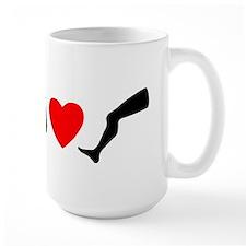 My Dog Hearts Leg Mug