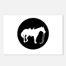 Horse silhouette Postcards (Package of 8)