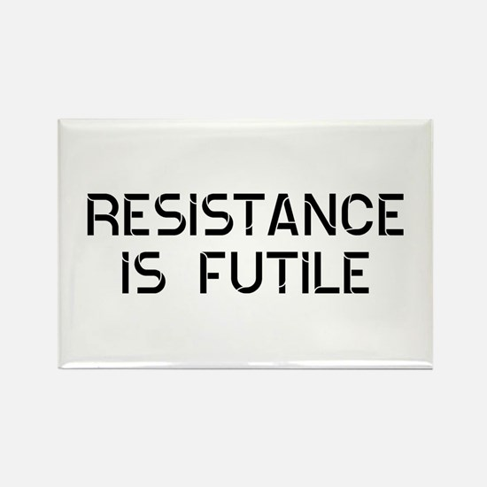 Resistance Futile Rectangle Magnet