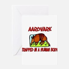 Aardvark trapped in a human body Greeting Cards