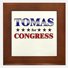TOMAS for congress Framed Tile