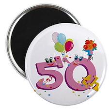 50th Birthday (3) Magnet