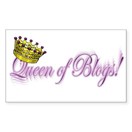 Queen of Blogs Rectangle Sticker