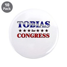 """TOBIAS for congress 3.5"""" Button (10 pack)"""
