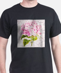 Pink Hydrangea and dragonfly T-Shirt