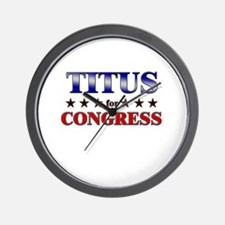 TITUS for congress Wall Clock