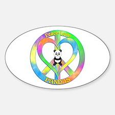 Peace Love Pandas Decal