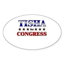 TISHA for congress Oval Decal