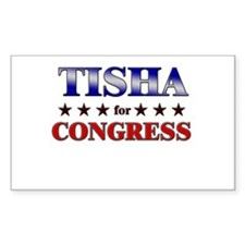 TISHA for congress Rectangle Decal