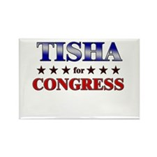 TISHA for congress Rectangle Magnet