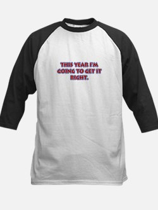 New Year's Resolution Kids Baseball Jersey