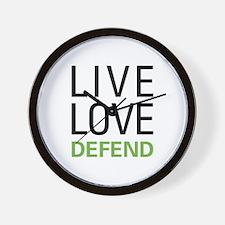 Live Love Defend Wall Clock