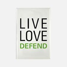 Live Love Defend Rectangle Magnet