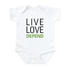 Live Love Defend Onesie