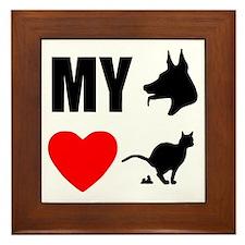 My Dog Hearts Poop Framed Tile