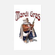 MArdi Gras Desert Runner Rectangle Decal