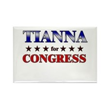 TIANNA for congress Rectangle Magnet (10 pack)