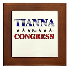 TIANNA for congress Framed Tile