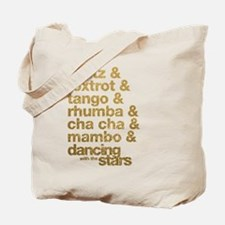 Dance Names Tote Bag
