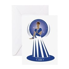 Zeta Phi Beta Greeting Card